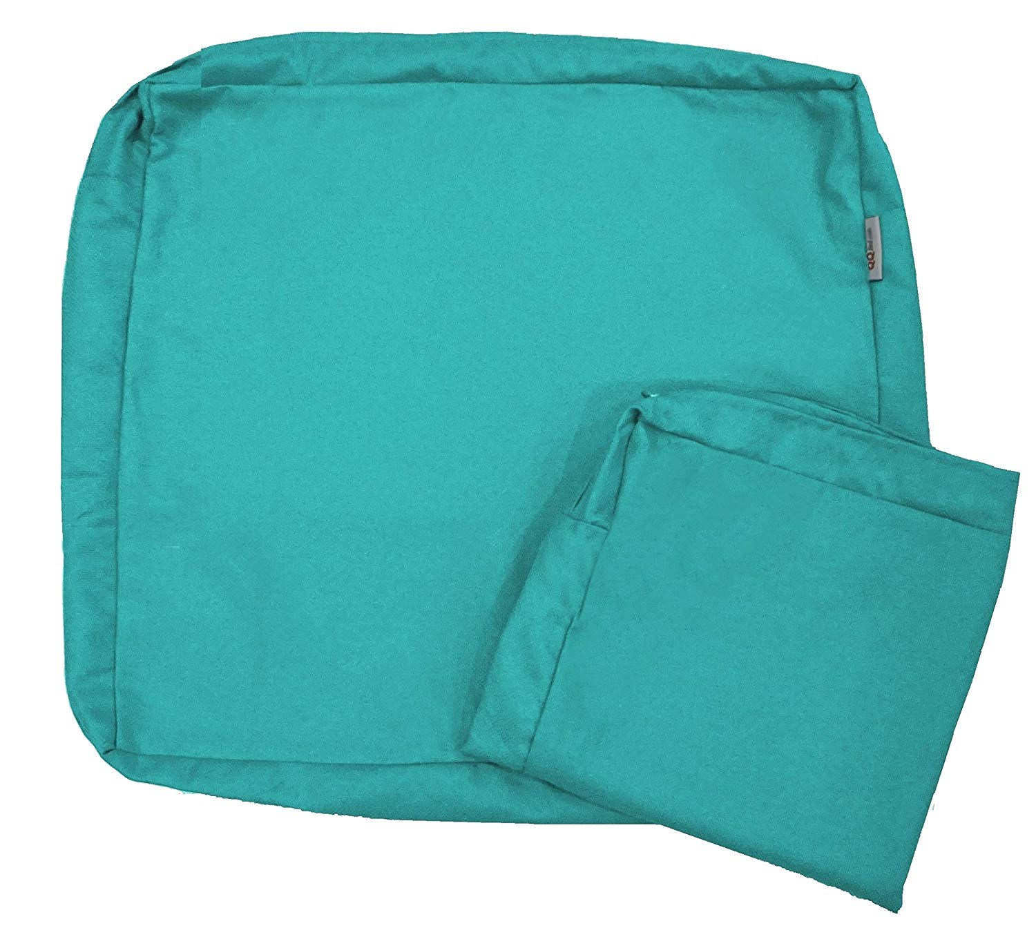 """QQbed 4 Pack Outdoor Patio Chair Washable Cushion Pillow Seat Covers 20"""" X 18"""" - Replacement Covers Only, X4 Peacock Blue"""