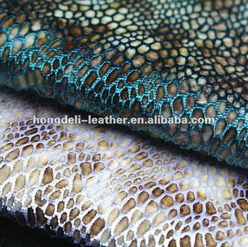 upholstery fabrice for shoe and bag sofa snake skin fabric shoe material
