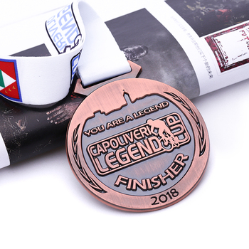 factory made diecast finishers 5k metal medal