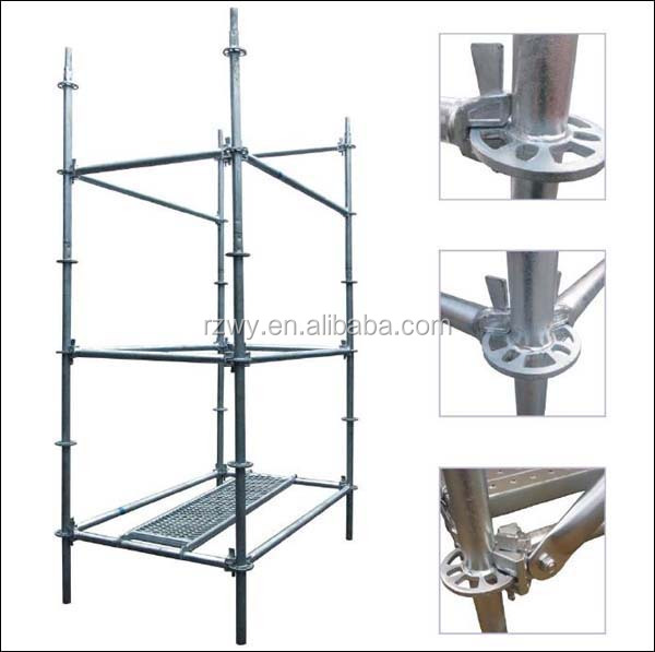 Steel Scaffolding Parts : Steel ringlock safety mobile modular scaffolding and