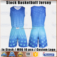 Youth basketball wear sleeveless sportswear customized plain jersey new offical design basketball uniform in stock for wholesale