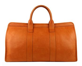 Hot Leather Weekender Bags For Men Tan Duffle Bag Cognac Travel Weekend