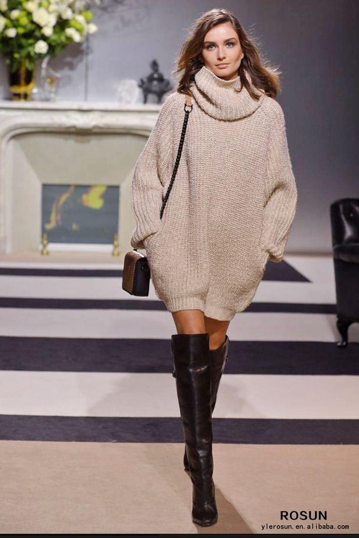 Sweater plus turtleneck size dress oversized history
