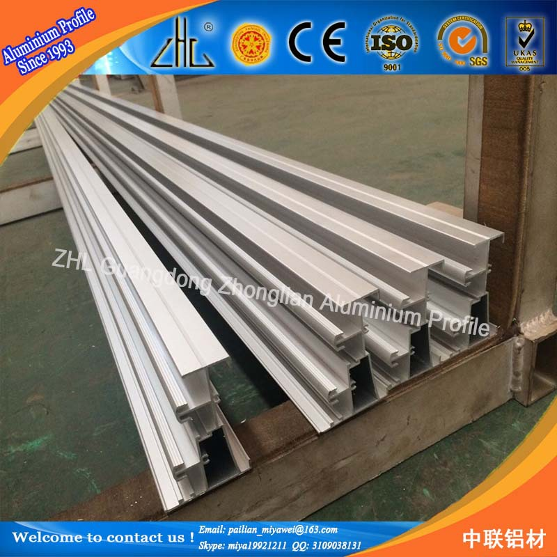 6000 series aluminium extrusion sliding door channel / aluminium rail for sliding door / t track & 6000 Series Aluminium Extrusion Sliding Door Channel / Aluminium ...