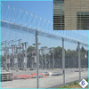 anti-climb 358 security steel wire mesh Fencing with razor barbed wire better price