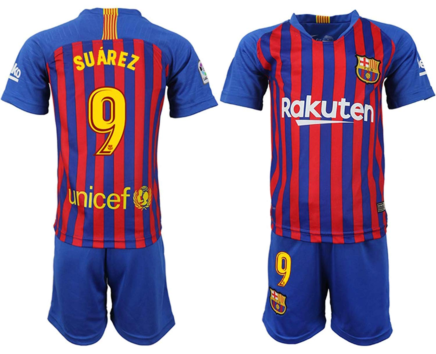 6b3d329d9 Get Quotations · Kaari 2018 19 The New Barcelona Suarez Kid s Soccer Jersey