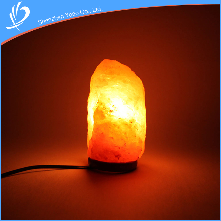 Exquisite Natural Amber Himalayan Crystal Salt lamp For Promotion