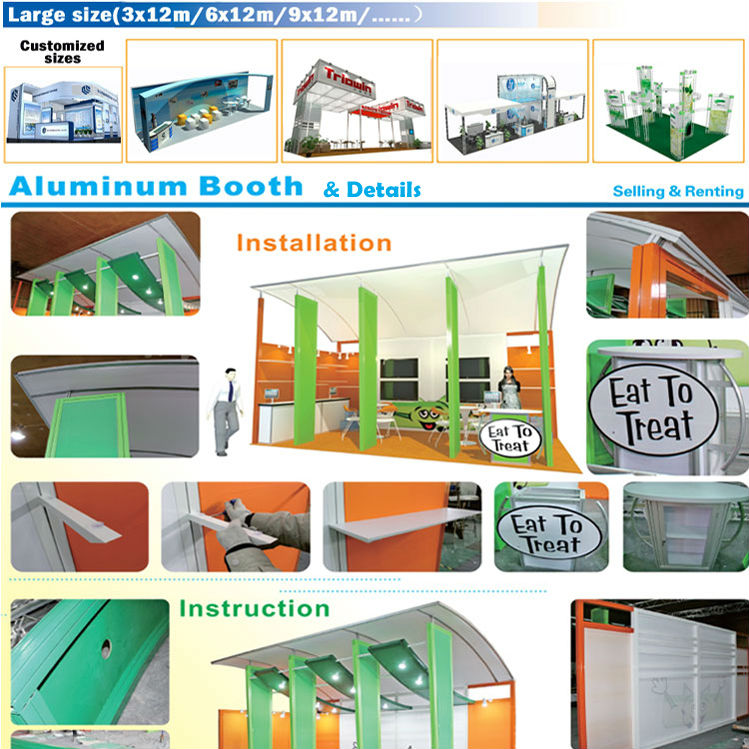 China Supplier Custom Portable Trade Show Booth Exhibition Stand ...