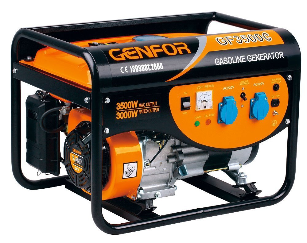 Genfor GF3500CE, 3,500-watt Gasoline Powered Portable Generator with Electric Starter