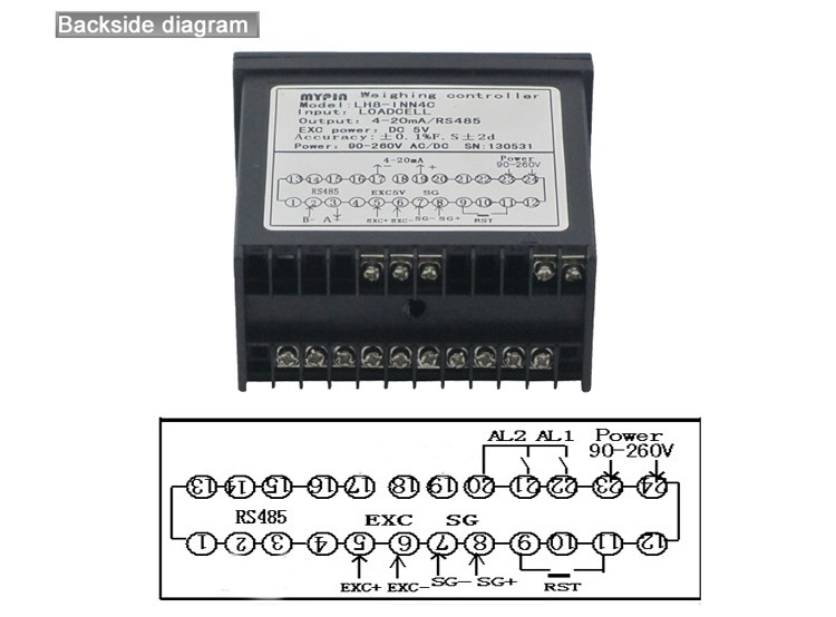 Mypin brand new 6 digits weight load cell controller(Model: LH86-RRD)