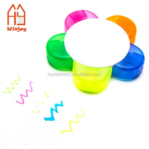 Round highlighter fluorescent marker, 5 in 1 Highlighter Pen