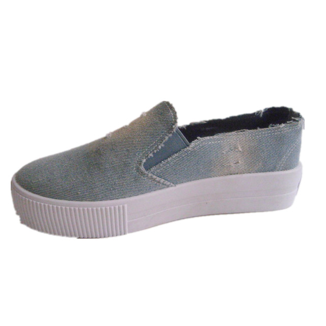 Wholesale Women Casual Blue Jean Shoes Top Quality High Cut Shoes For Women