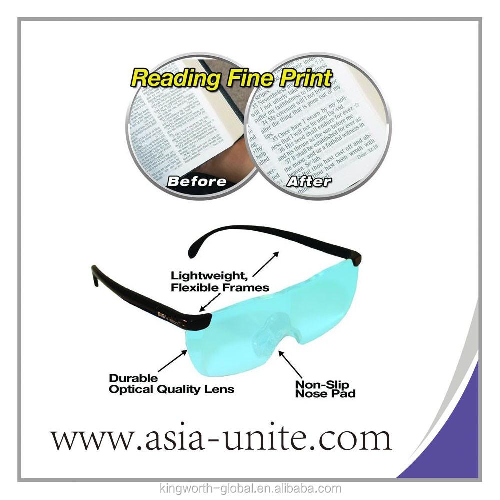 Besar Visi Kacamata Pembesar Yang Membuat Semuanya Lebih Big Vision Glasses Magnifier Dan Jelas