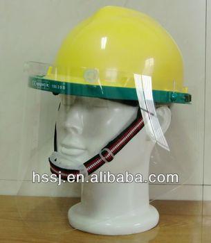Padrão do CE PA suporte 1.0mm PC viseira do capacete de segurança viseira  clara 6157d964b7
