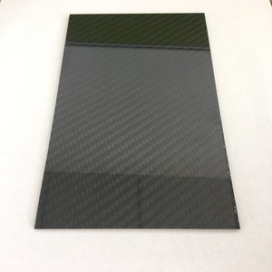 high quality glossy carbon fiber laminate sheet plate 100% carbon