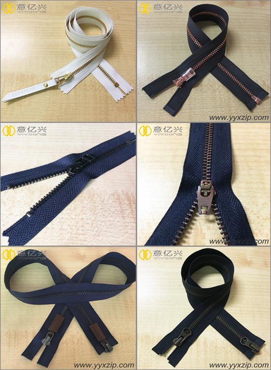 Custom Tape Color #5 Gold Teeth Magnetic Long Chain Metal Zipper