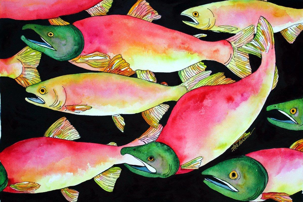 3dRose ct/_41733/_2 Beautiful Salmon Color Vintage Bird Ceramic Tile 6
