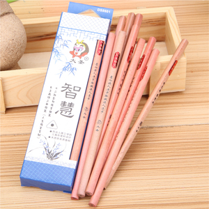 Colored box carton packing customized body nature wood hb pencil ferrules