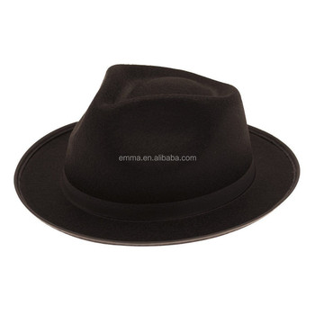 Wholesale black Italian mafia gangster trilby fedora fancy dress  accessories party hat HT8880 203819277c0