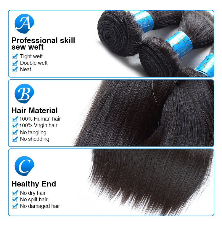 best-selling top quality virgin unprocessed human hair extension