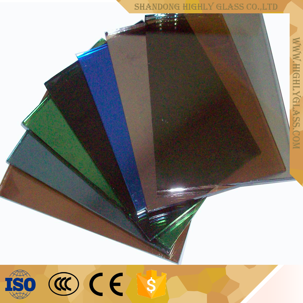 Resonable price green blue grey reflective glass price