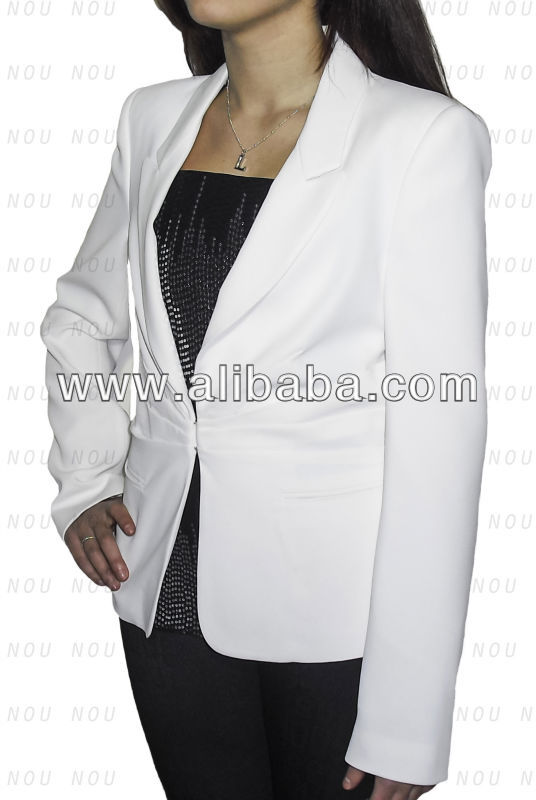Women Jacket without buttons White MADE IN ITALY