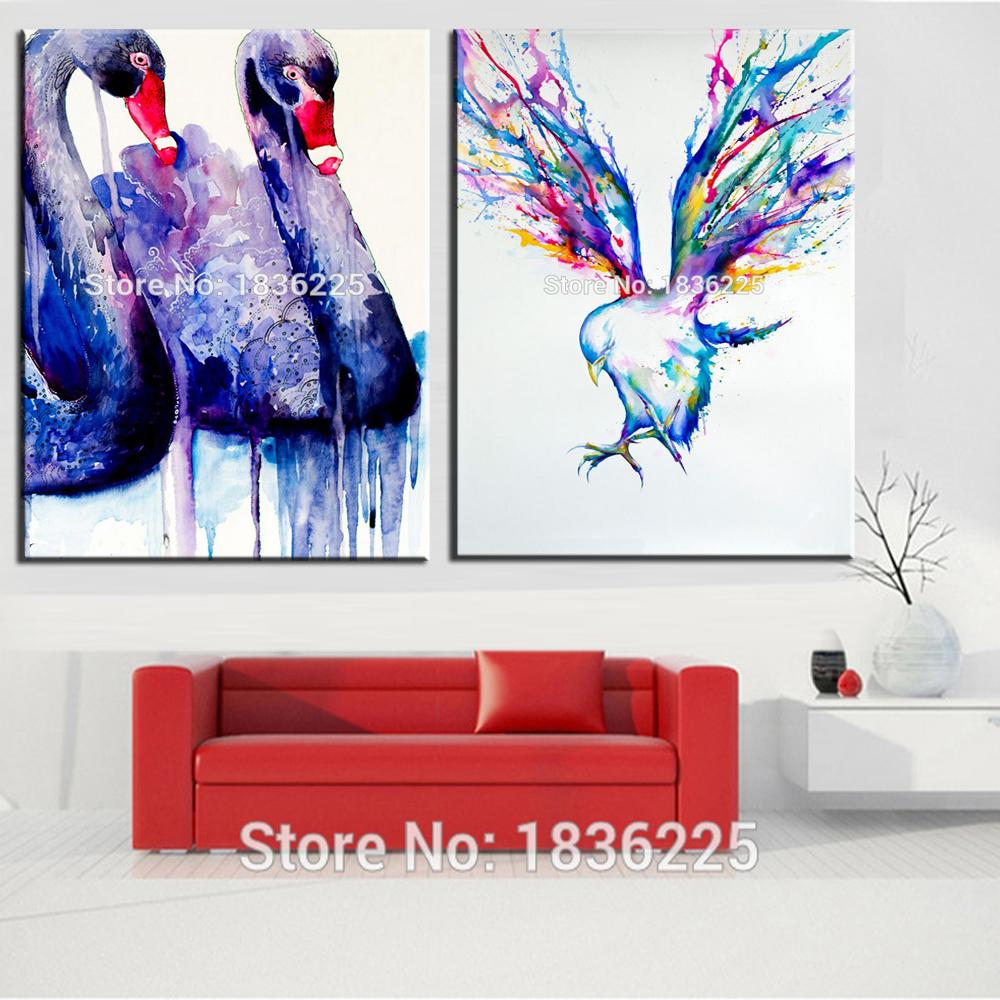 Art Purple Swan Painting Antique Oil Painting Art For Sale