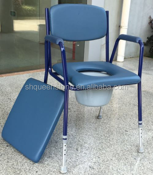 Health Suport Steel Frame Toilet Chair Plastic Commode Chair Antique Commode