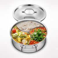 Induction Commercial electric stainless steel divided chinese hot pot