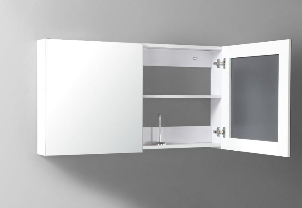 Nieuwe ontwerp moderne ijdelheid glas wastafel badkamer opbergkast