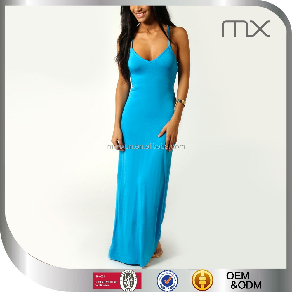 Turquoise Color Designer One Piece Party Dress Sexy Casual Dresses ...