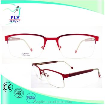 Fashion Half Rim Metal Lady\'s Eye Glasses Optical Frame Wholesale ...