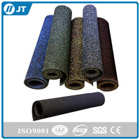 Most popular noise reduction gym rubber roll mat / commercial rubber floor roll / roll sheet flooring