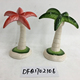 Porcelain coconut palm figurine ceramic tree decoration