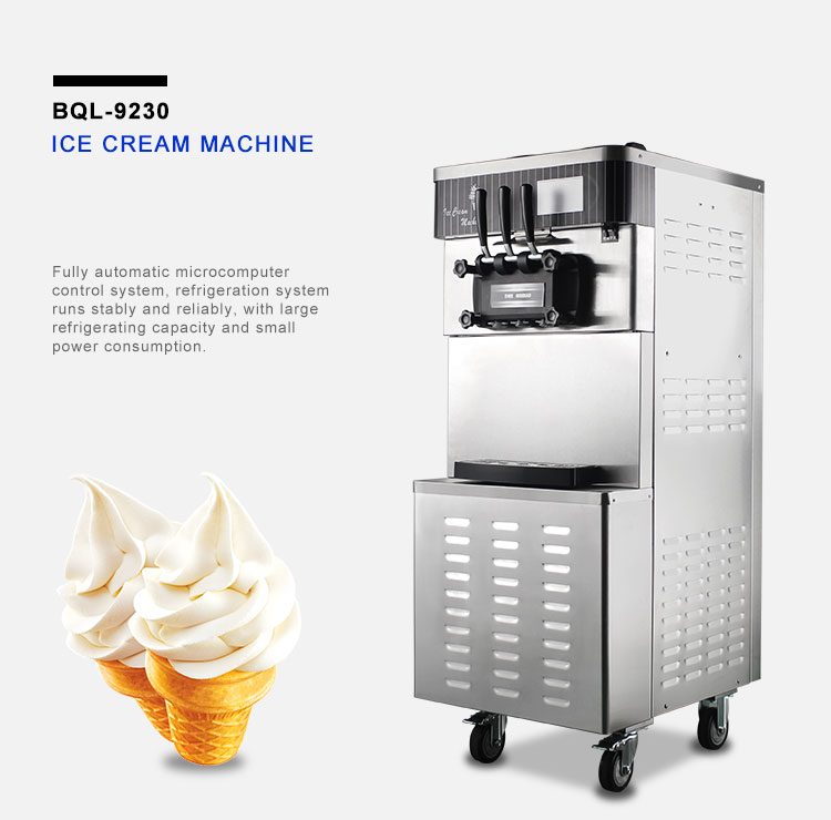 factory wholesale hot sale soft ice cream machine with high quality