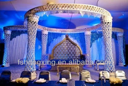 HX25-1 mandap chori jhula wedding decorations back drop