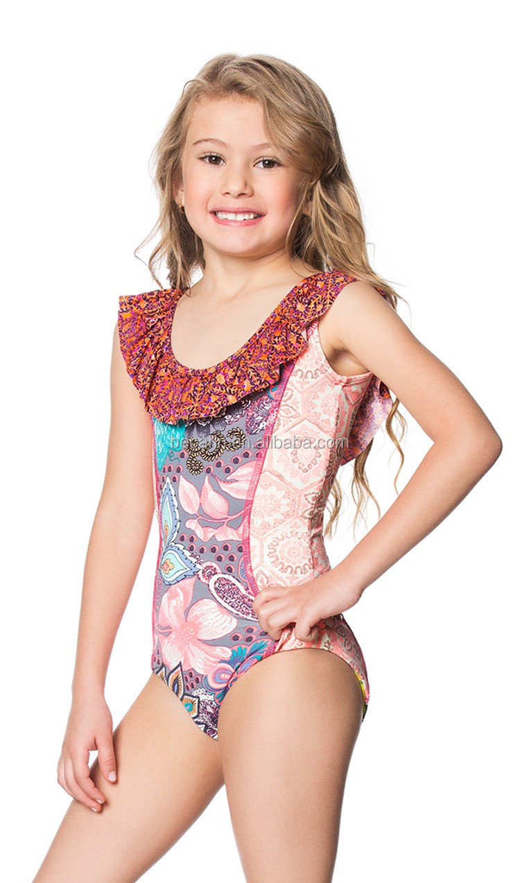 sexy kids swimwear girls  New 2018 Children Sexy Girl Swimsuit Embroidering Floral ...