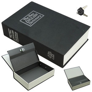 Cash Money Gun Box Travel Security Lock Hidden Dictionary Large Secret Book Safe