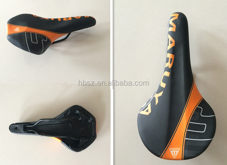 comfortable color leather MTB bicycle saddle