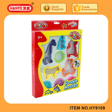 HY-9109 2017 The Newest Colorful Clay Dough Cookie Moulds Play Set Toys