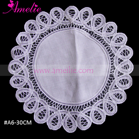 30cm Dia Embroidery Battenberg Lace Buffet Party Decoration Table Cloth