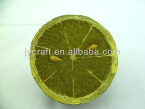 resin fake fresh half 1/2 piece oranges/lime arts and crafts,fake fruit piece sample for decoration display or promotion gift