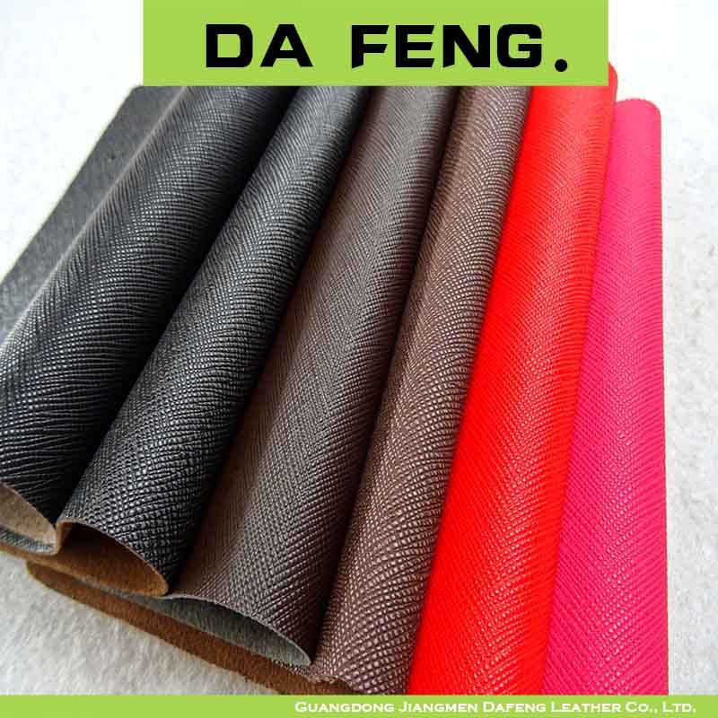 Wholesale Faux Leather Fabric Saffiano Pvc Leather For Bag