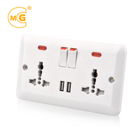 UK power universal electric 230v wall plug socket outlet