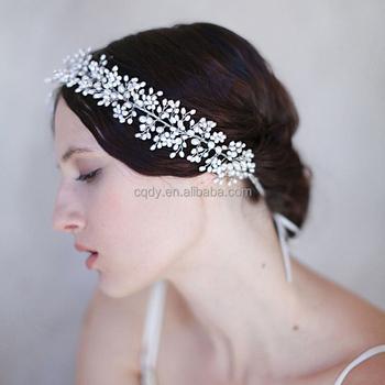 Elegante Handgefertigte Blutenblatt Blume Perle Band Braut Stirnband