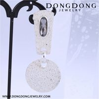 New arrival OEM quality hanging diamond drop earrings with reasonable price