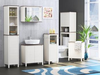 Moderne hout badkamer meubels sets met spiegelkast en undersink
