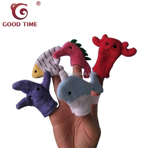 Baby Educational Products Marine Animal Finger Puppet For Helping Children to Know Animal