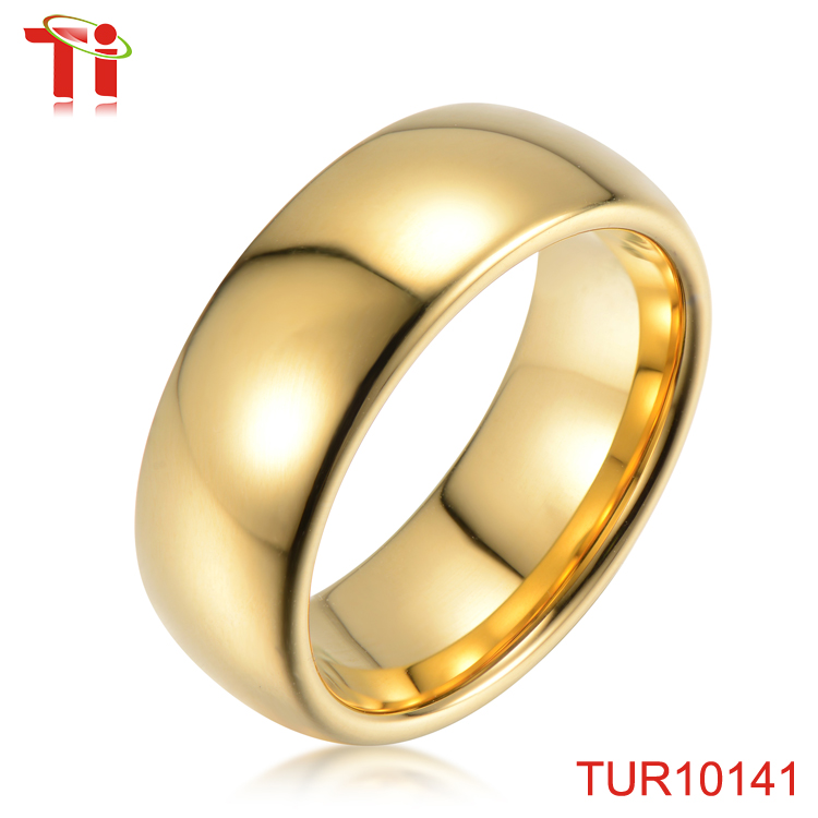 Dongguan Aohua Jewelry TUR10141 wholesale IP 22k gold designs wedding new pearl finger tungsten ring