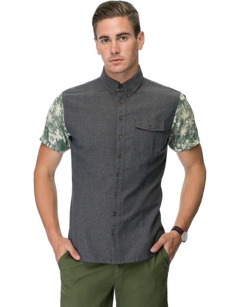 Mens Short Sleeve Hawaiian Short Sleeve Shirts Oxford Hawaiian ...